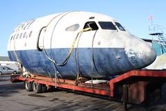 G-AWZU Hawker Siddeley HS.121 Trident 3B (jph727) Tags: plane nose aircraft aeroplane british ba airways britishairways hawker wycombe trident fuselage baw planespotting