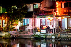 Xitang water village (Pic_Joy) Tags: china reflection building water architecture night river asia village traditional culture historic xitang  jiangnan   zhejiang        jiashan