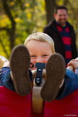 Swing Kid (davidkoiter) Tags: family boy smile canon fun eos dof play father swing depthoffield 7d l series recreation shallow 70200 f4 f4l