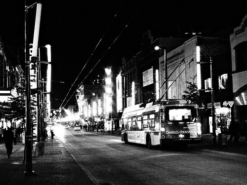 Granville St at Night