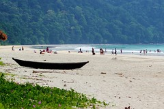 enjoying the beach! (dishachatterjee) Tags: sea india beach beautiful canon dslr andaman portblair radhanagarbeach