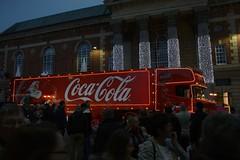 Coca-Cola Truck (P.A.King) Tags: santa christmas night truck lights coke lorry advert cocacola peterborough santa1