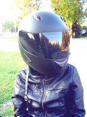 Biker Girl (Hefet) Tags: woman sexy girl helmet motorcycle biker casco helm capacete bikergirl