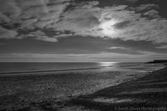 The Beach (sarahOphoto) Tags: wood uk sea england bw white black beach sand unitedkingdom painted united steps kingdom huts essex frinton groins frintononsea