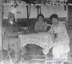 Romualdo Prati con la moglie Olga e la figlia Ofelia