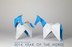 HORSE (DEC 2013) (Zsebe Origami) Tags: horse origami yearofthehorse origamihorse zsebeorigami horse2014 horsebyzsebe
