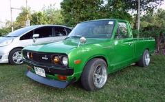 Datsun (hiphopcarjunkie) Tags: show classic up car golf thailand nissan pickup retro course event pick siam datsun pattaya nismo 07122013