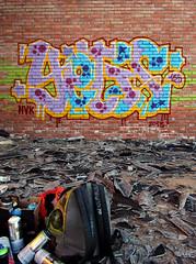 (hvkinky) Tags: streetart graffiti hvk cuenca yetis rottenness yetis135