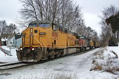 GE Bucket's - Albert Lea, MN (MinnKota Railfan) Tags: railroad up minnesota train pacific sub albert union engine rail loco southern sp lea locomotive coal ge c449w subdivison