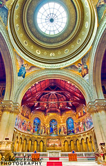 Dome-of-Angels (Nualchemist) Tags: light sculpture church cross interior mary religion jesus wideangle chapel icon architectural altar angels stanford dome symmetrical dreamy christianity spiritual stonewalls sanctuary stainedglasses stanfordmemorialchurch houseofgod meditational