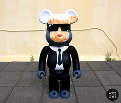 Karl Lagerfeld (WuzOne) Tags: painting toy design diy geek handmade vinyl wip kidrobot karl collectible custom chanel commission swag 1000 bearbrick acrylics dunny lagerfeld berbrick medicom vinyltoy artoy wuzone