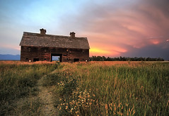 Historic Barn at Sunset