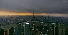 /  complete darkness (blackstation) Tags: china road street city travel urban weather skyline architecture clouds canon buildings shanghai cloudy viaduct highways cbd     inspiring overcastsky skyscraping   overcastweather