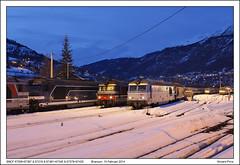 SNCF 67558+67367 & 67316 & 67481+67345 & 67578+67435 & 67482+67609 - Briançon (15-02-2014) (Vincent-Prins) Tags: briançon sncf bb67300 lunea bb67400 67345 67367 67377 67435 67481 67482 67558 67578 67609