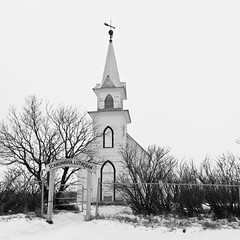 Scandinavia Lutheran (The Bear Den) Tags: 1x1cropratio 2012 abandoned abandonedalberta abandonedbuilding abandonedcanada alberta autumn bw backroadsofalberta backroadsofcentralalberta belfry blackandwhite canada church cold countryroads cross faith fall fence fromthearchives frozen grp gate gravelroadphotography greatwhitenorth handheld havecamerawilltravel houseofworship landmark lutheran november parish pentaxk20d placeofworship prairie religiousinstitution roadtrip roadslesstravelled rural scandinavialutheran snow spire spiritual square squarecrop squareformat steeple thebearden trees whitechurch windchill smcpdafisheye1017mmf3545edif naturallightphotographer