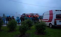 Linzfest 2014 (austrianpsycho) Tags: linz ambulance openair regnerisch 144 2014 roteskreuz donaupark krankenwagen verregnet schlechtwetter linzfest donaulände 17052014 linzfest2014