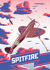 Spitfire (Fresco Umbiatore) Tags: art clouds print poster airplane war fighter britain aircraft wwii illustrations spitfire illustrator vector warplanes wowp