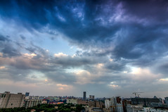 DSC_1316_7_8_tonemapped (龙颜大悦) Tags: china blue cloud beijing bluesky 北京 中国 hdr photomatix nikond90 tokinaaf1228mmf4 健德门