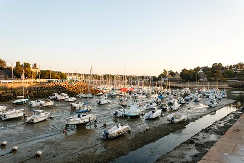 Port de Dahouët à marée basse