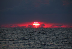 Spheres (grce) Tags: sunset sea sky sun seascape nature water clouds russia sphere azov