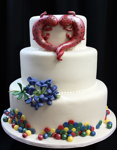 Salamanders Heart Wedding Cake