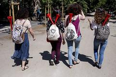 . (www.piotrowskipawel.pl) Tags: streetphotography wrocław województwodolnośląskie poland streetscene street streetfashion documentary documentaryphotography trumpet girls israeligirls vuvuzela