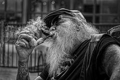 Pipe Man (Jim-Mooney) Tags: bw black white blackwhite blackandwhite mono monochrome monotone street photography people portrait fuji xt1 fujinon 50140mm kansascity