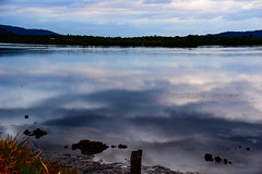 Cloudy sunrise and reflections on the bay (Merrillie) Tags: daybreak woywoy sunrise nature australia reflections nswcentralcoast newsouthwales nsw centralcoastnsw water mountains landscape outdoors waterscape blackwall centralcoast dawn mountain clouds