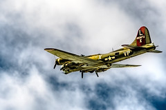 B-17 on route (txwhitacre - I think I'm back :)) Tags: b17 flyingfortress clouds sky nikon d500