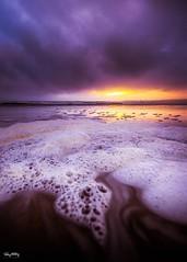 Foam (Ray Moloney Photography) Tags: ifttt 500px foam water beach ocean atlantic sunset sky clouds blue sun sand waves travel beautiful light seascape coast ireland county clare eire orange purple raymoloneyphoto cloudscape
