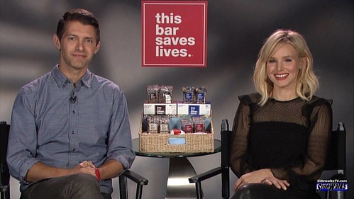 Ryan Devlin and Kristen Bell: the former Veronica Mars co-stars are working together again. They have created a health bar, where its proceeds will help starving families. Find out more in our Lori Rosales interview on TV and SIDEWALKSTV.COM. #RyanDevlin