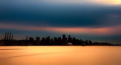 City Silhouette (beelzebub2011) Tags: canada britishcolumbia vancouver burrardinlet silhouette le longexposure 10stopnd