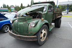 1946 Chevrolet DumpTruck (bballchico) Tags: 1946 chevrolet dumptruck ratbastardscarshow carshow 40s truck 206 washingtonstate