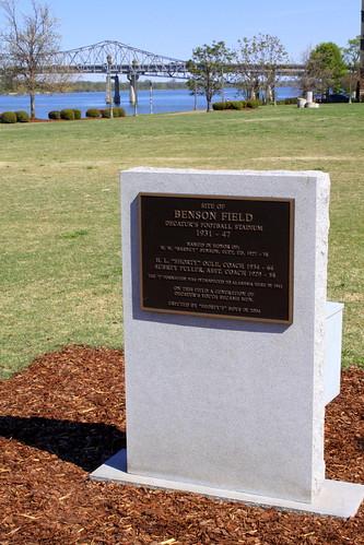Site of Benson Field plaque
