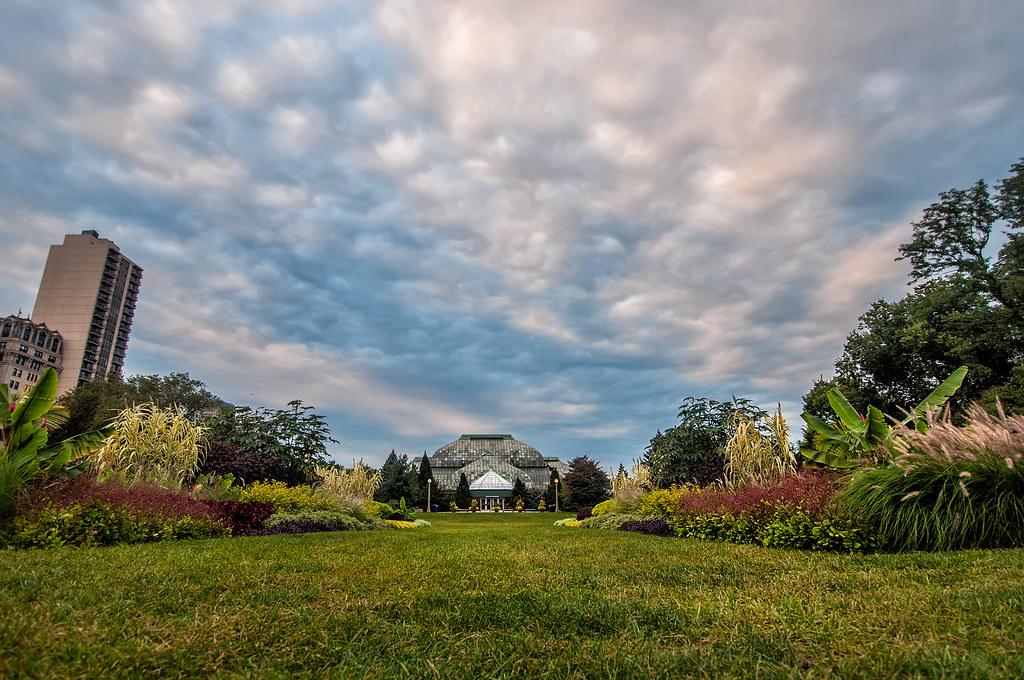 Clouds over the Lincoln Park Conservatory.