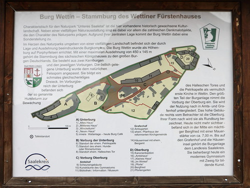 Grundriss Burg Wettin