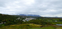 The town of Clifden with a background of the 12 Bens (Mick @ MBE) Tags: galway clifden mbe ireland westofireland connemara mountains town landscape panorma 2012 sky september summer