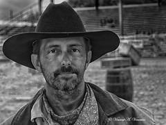 Cowboy Bart (Visions by Vincent) Tags: rodeo cowboy blackwhite arcadia greatphotographers portrait monochrome