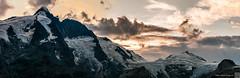 Groglockner panorama (Pe_Wu) Tags: winkl krnten austria grosglockner panorama sun sunset kaiser franz josefs hhe peak highest snow rock clouds cloud mountain alps mountains pasterze glacier ice krnten at