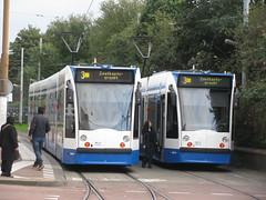 2127 + 2078 GVB (streamer020nl) Tags: amsterdam 2016 111016 11oct16 holland nl nederland netherlands niederlande paysbas 2127 2078 gvb tram tramlijn 3 zoutkeetsgracht muiderpoortstation strassenbahn oost amsterdamoost