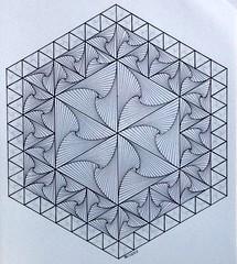 FullSizeRender 5 (regolo54) Tags: geometry symmetry pattern tessellation fractal mathart regolo54 escher isometric hexagon triangle mandala structure