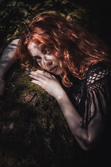 Hypnos. (claraörh.) Tags: model alternative shooting shoot dress moda collection fashion girl design hair longhair greeneyes alternativemodel lady light artistic lovely redhair redhead fantasy hypnos