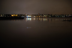 Waiting for the snow (STTH64) Tags: city lights night view sea seaside vaasa finland reflection landscape buildings