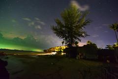 Koh Lanta (free3yourmind) Tags: koh lanta thailand beach night stars nightsky sea colorful clouds