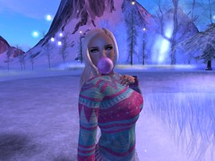 Winter on my Mind (SexehBunnehLady1) Tags: firestorm secondlife bubblegum gum snow winter sweater nails ring blonde secondlife:region=diamondisland secondlife:parcel=telrunyawinterhttpswwwflickrcomgroups2754142n24 secondlife:x=225 secondlife:y=64 secondlife:z=21