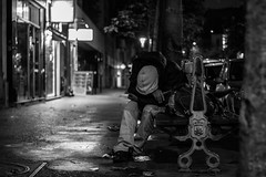 IMG_9383 (::Lens a Lot::) Tags: smc pentaxm 50mm f17 1977 | 6 blades iris pk mount black white blackandwhite street photography streetphotography bokeh depth field night light homeless junky drug addict crackhead classic vintage japan japanese fixed length prime manual lens asahi