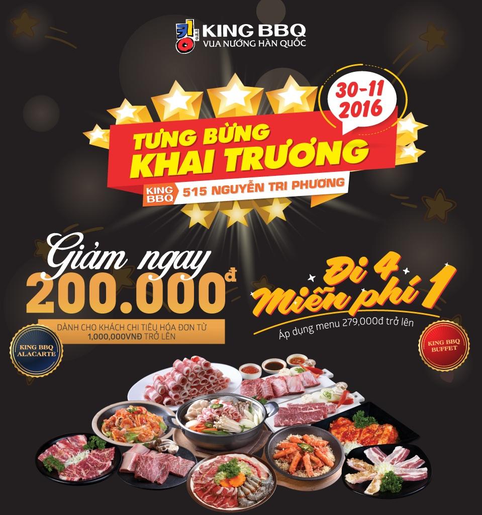 Khai trương KingBBQ Nguyễn Tri Phương