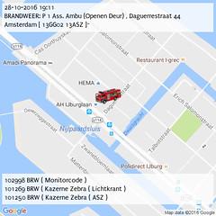 BRANDWEER: P 1 Ass. Ambu (Openen Deur) , Daguerrestraat 44 Amsterdam [ 13GG02 13ASZ ]~ (19:11) (IJburg112) Tags: ijburg112 p2000 amsterdam 112