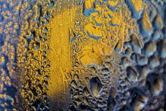 winter sun (sami kuosmanen) Tags: aurinko art suomi sun macro vriks valo luonto light lhikuva closeup kuusankoski kouvola talvi winter abstract colorful blue yellow keltainen water ice flash salama texture