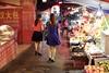 Women Strolling Through Wuhan Night Market (Sean Maynard) Tags: wuchang chinese dress alley night food strolling women nightmarket hubei china wuhan